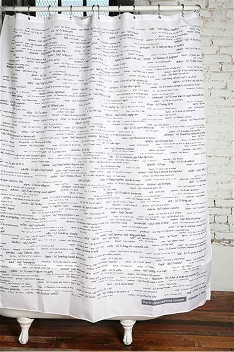 Savvy Housekeeping 187 Vocabulary Shower Curtain