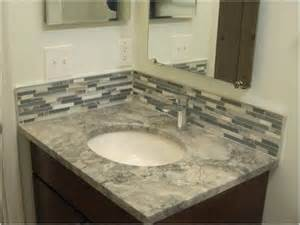 vanity backsplash ideas behind master bathroom using mirror tiles mosaic nearby