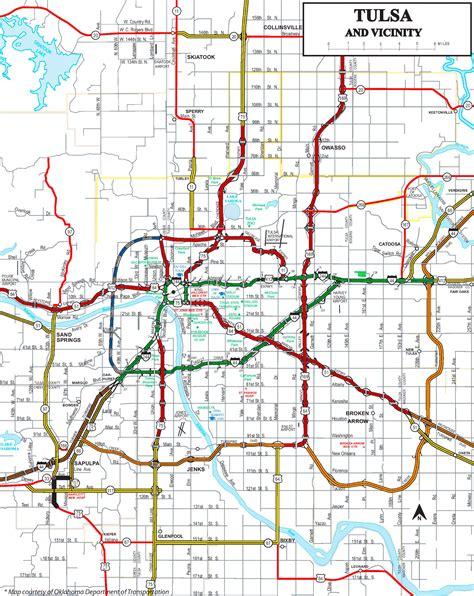 tulsa usa map tulsa road map