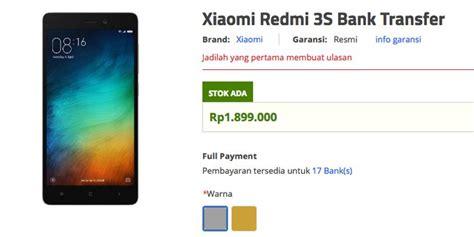 Resmi Hp Xiaomi Redmi 3 Di Indonesia resmi xiaomi redmi 3s sudah bisa dipesan di indonesia
