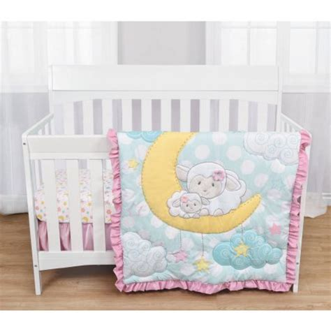 sheep comforter baby baby s first by nemcor 3 piece crib bedding set quot sleepy