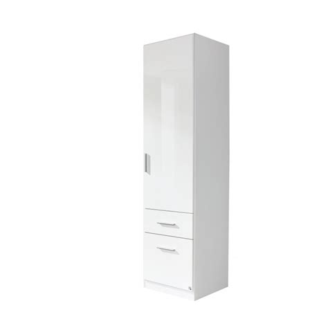 single door white glossy wardrobes on sale cheap