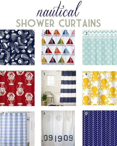 Nautical Themed Curtains - top 9 nautical shower curtains designlively