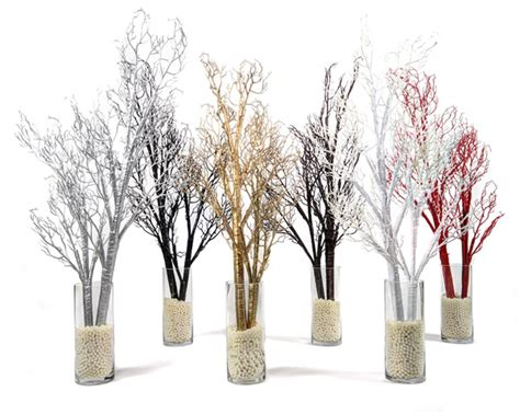 bendable artificial manzanita branches silver large