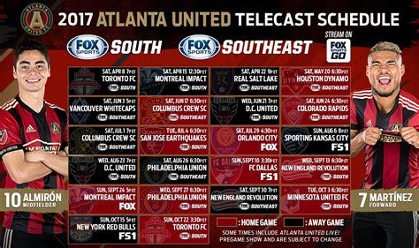 tv unite atlanta united schedule