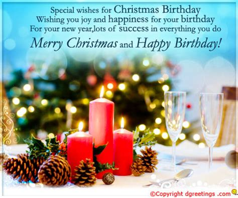 Merry Christmas And Happy Birthday Card