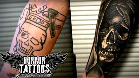 Horror Tattoos Cover Up Robin Vorher Nachher Sixx Best Cover Up Chicago