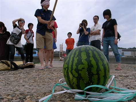 history of the watermelon what is the origin of suika wari or watermelon cracking of