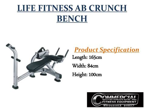 life fitness ab crunch bench ppt used commercial fitness equipments in australia gym