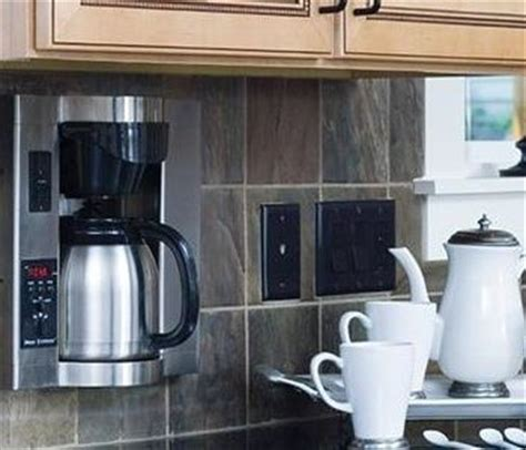 counter coffee maker cabinet coffee maker