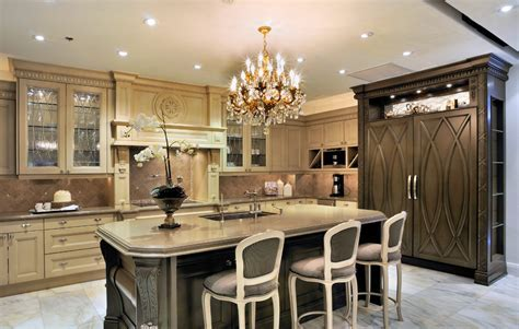 glazed kitchen cabinets Kitchen Traditional with cream