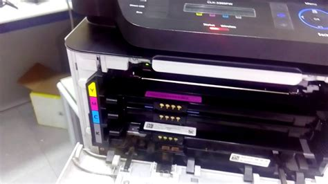 how to reset samsung printer clx 3185 how to reset samsung clx 3305 printer imaging unit youtube