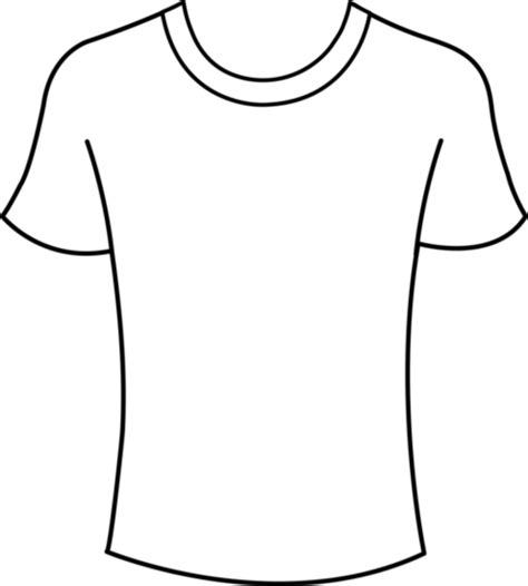 Tshirt Template Men Free Images At Clker Com Vector Clip Art Online Royalty Free Public T Shirt Template Png