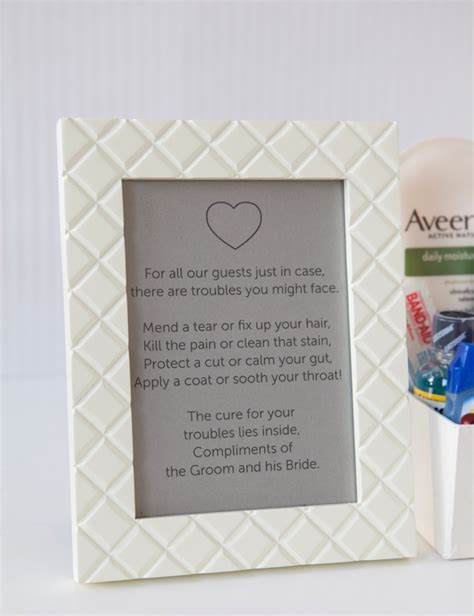 wedding bathroom kit learn how to make your own bathroom emergency kit