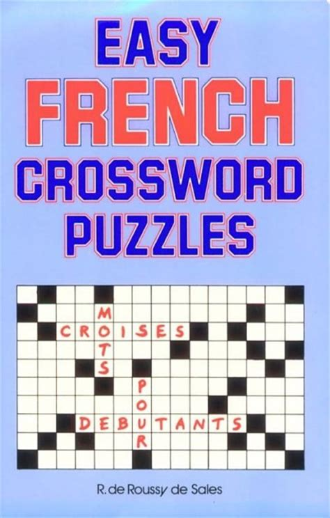 easy crossword puzzles in french mcgrawhill french easy french crosswords puzzles
