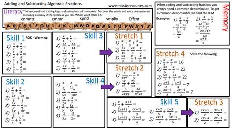 algebraic subtraction worksheets algebraic subtraction worksheets resume template ideas