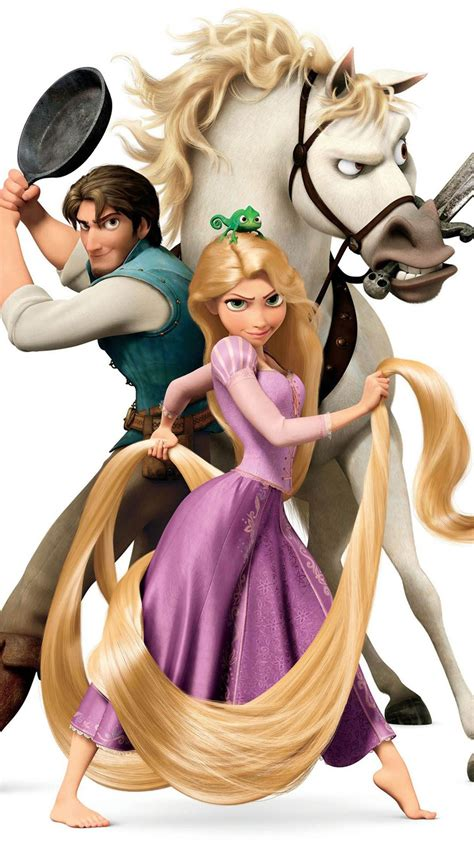 tangled rapunzel flynn  maximus wallpaper  iphone