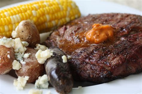 grilled ribeye steaks and grilled fingerling potatoes with gorgonzola the gourmand mom