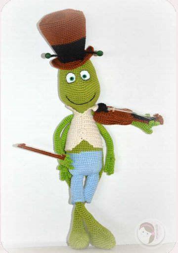 amigurumi violin pattern patr 243 n gratis amigurumi de pepito grillo con viol 237 n