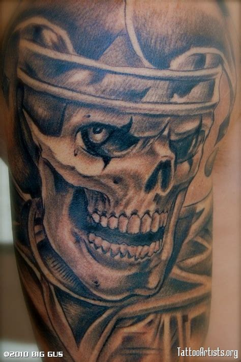 tattoo joker skull 12 incredible gangster clown tattoo designs and ideas