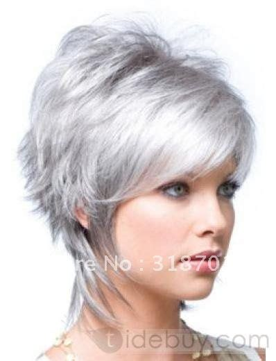 funky hairstyle for silver hair health synthetic wigs and style on pinterest