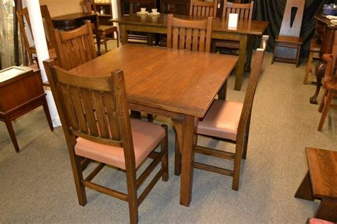 mission oak dining table kitchen table 4 mission chairs