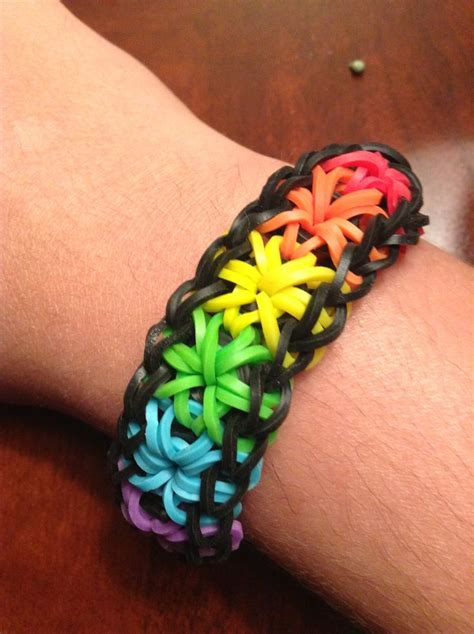 rubber sting ideas rainbow starburst rubber band bracelet rainbow looms i
