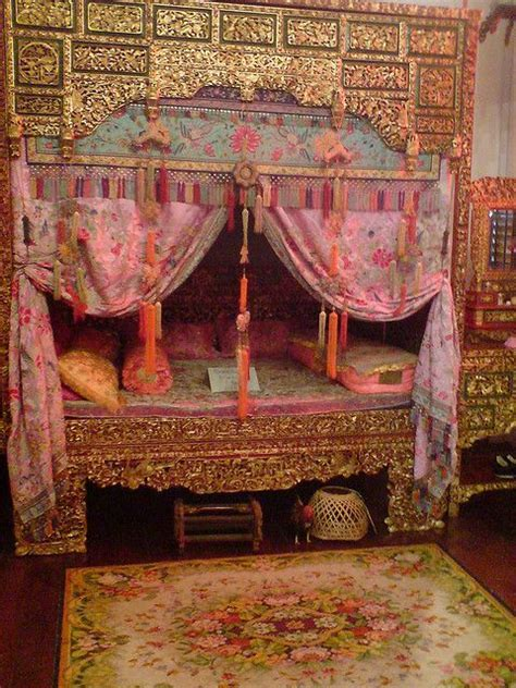 First generation Chinese wedding bed inside Peranakan