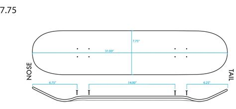 diagram length width height board size chart primitive skateboarding