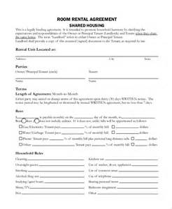 tenants in common agreement template tenant contract template