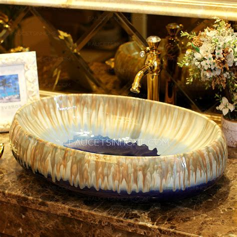 oval ceramic vessel sink oval vessel sink designed porcelain blue enamelling