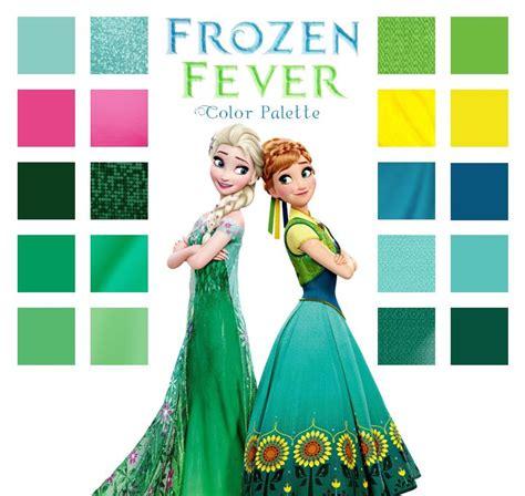 frozen color frozen fever color palette frozen fever disney