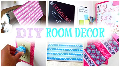 how to make room decorations diy room decor decorate your room with washi tape cute