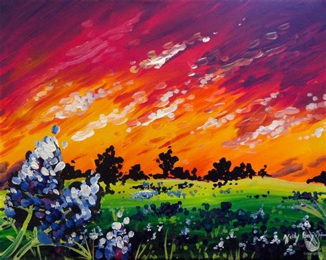 paint with a twist alon just added bluebonnet sunset adults only friday