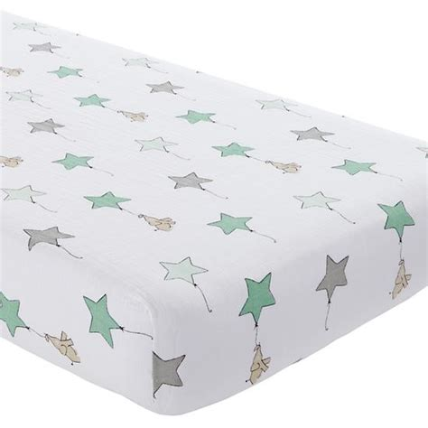 the land of nod crib bedding aden and anais soft fitted