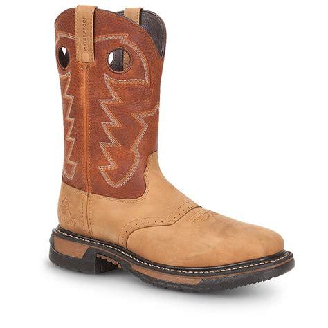 mens steel toe cowboy boots s rocky original ride 11 quot steel toe cowboy boots