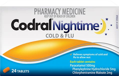 Codral Nightime codral 174 nightime cold flu tablets codral 174 australia