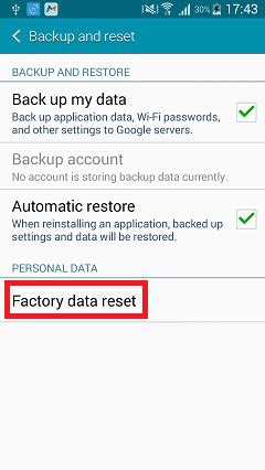 reset android backup password how to factory reset your android phone