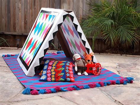 How To Make A Paper Tent - build your own collapsible cardboard tent handmade