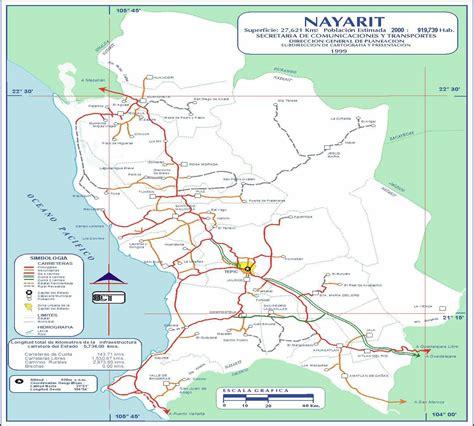 vallarta map of mexico riviera nayarit mexico map