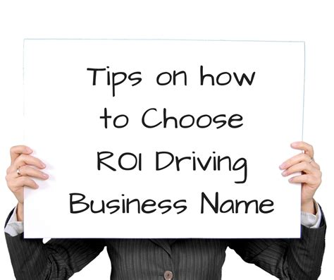 15 tips on how to choose roi driving business name brandloom