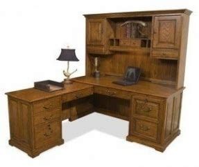 oak  shaped desk foter