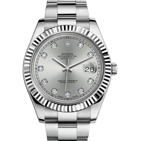 Rolex Silver rolex datejust ii 116334 white gold stainless steel