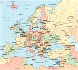 geography map maps of europe region country