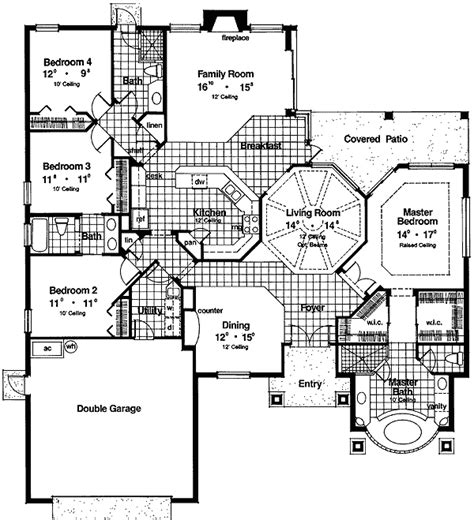 glass wall floor plan bowed glass block wall 63049hd 1st floor master suite