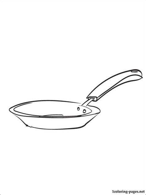 Frying Pan Coloring Page Coloring Pages Pan Coloring Page