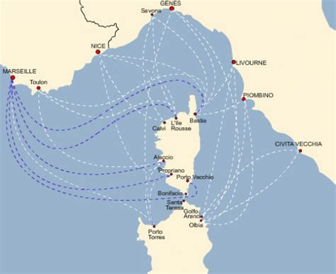 traghetti marsiglia porto torres marittima incrociato traghetto per la corsica
