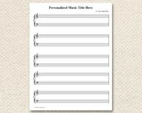 Printable blank personalized piano sheet music