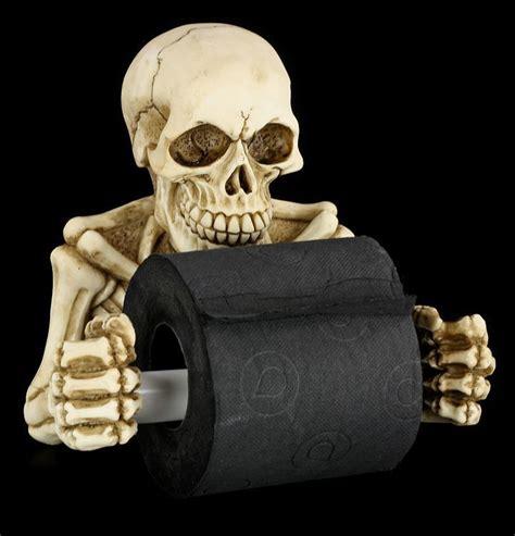 skeleton bathroom accessories toilet paper holder skeleton www figuren shop de
