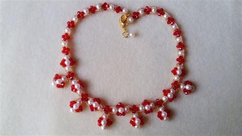 como hacer pulseras con perlas como hacer collar de perlas y tupis de cristal youtube